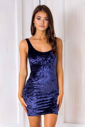 Sabina dress - Navy velvet