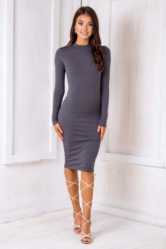 Robin Dress - Light charcoal
