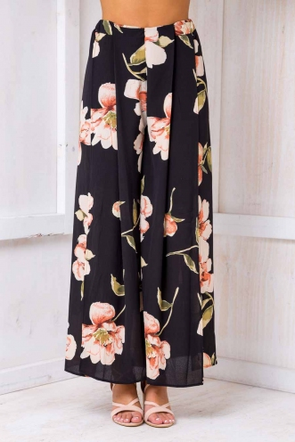 Sugar plum pants- Black floral