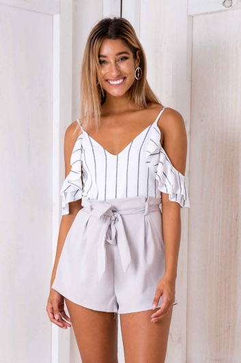 Tomislava playsuit - White Stripe