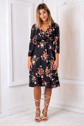Zahita dress - Black vintage floral