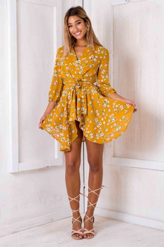 Tay Tay dress - Burnt mustard floral