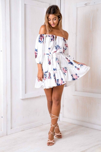 Garden Alexia dress -Mix White Floral