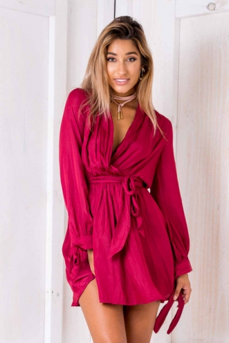Tamazin dress - Maroon