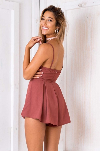 Dolly Playsuit - Paver red