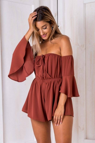Melissa Playsuit - Brown