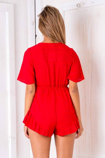 Nina playsuit - Red