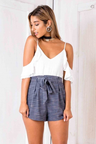 Tomislava playsuit - White/ Charcoal