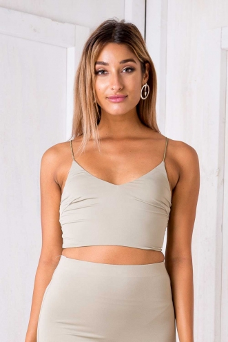 Alice crop top - Light khaki