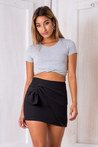 Jemma Knot Top - Grey