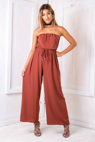 Party nights jumpsuit - Paver red
