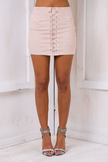 Clueless mini skirt - Nude