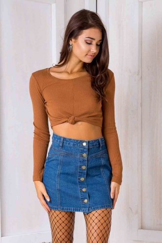 Cameron crop top - Tan