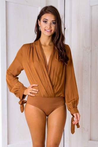 Olivia Bodysuit - Tan-SALE