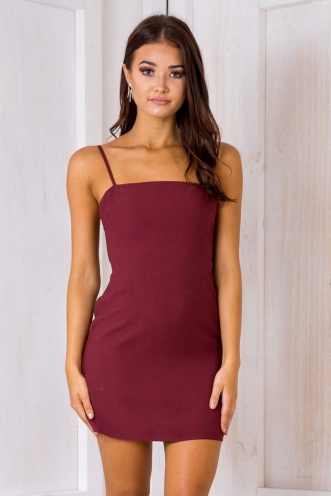 Sadie dress - Maroon