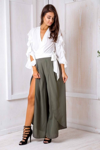 Kelly crepe pants - Light Khaki