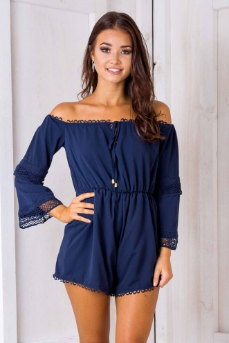 Rebecca playsuit - Navy