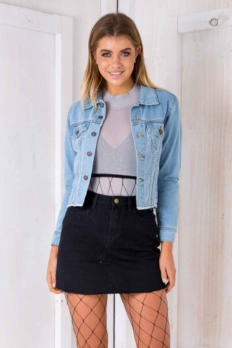 Fiona denim jacket - Light blue denim