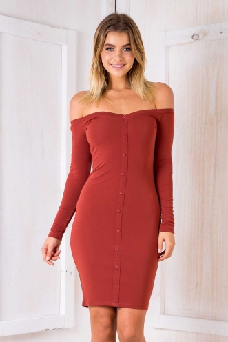 Linda Dress - Terracotta