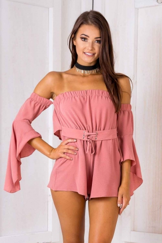 Sweet Pea Playsuit - Blush