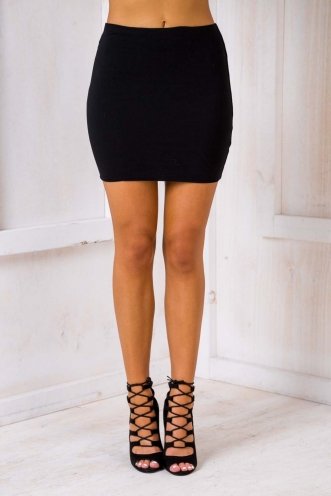 Forget Me Not Skirt - Black