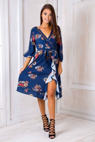 Zahita Dress - Blue Vintage Floral SALE