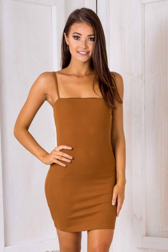 French Kiss Dress - Brown