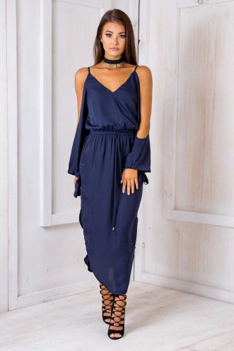 Waterlily Dress - Navy