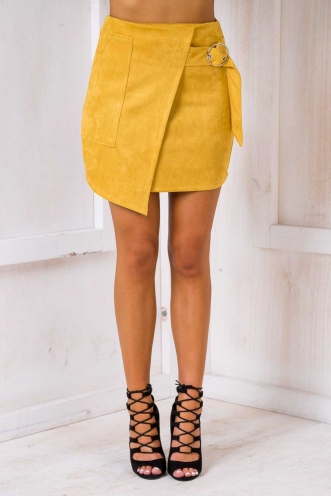 Talulah Skirt - Burnt mustard