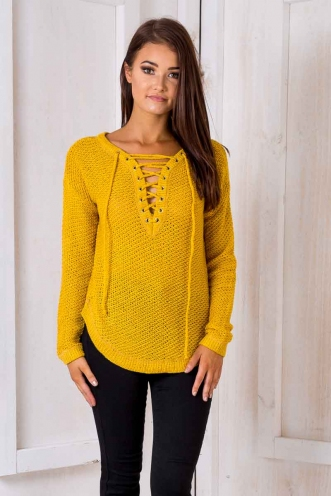 Annaliese Jumper - Burnt Mustard