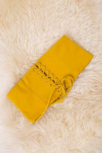 Roped In Belt - Mustard