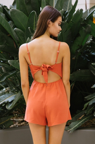 Tropicana Playsuit - Burnt Orange