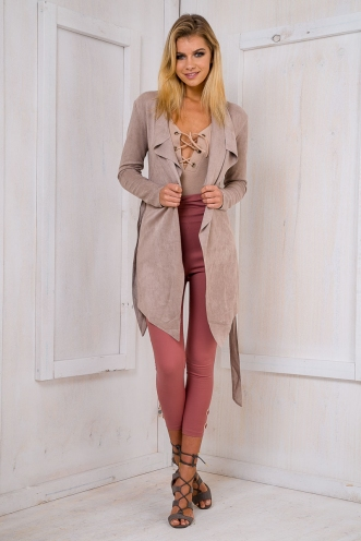 Yazmin suede jacket - Brown