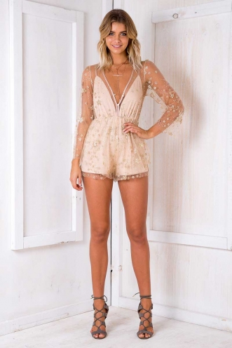 Saint Playsuit - Blush Sequin