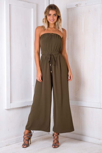Party Nights Jumpsuit - Khaki