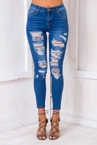 Little White Lies Jeans - Blue Denim