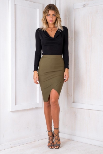 Time to Shine Skirt - Khaki