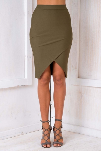 Time to Shine Skirt - Khaki-SALE