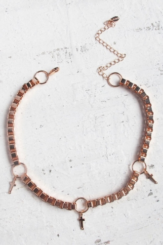 Minc collections - Cross choker - Rose Gold