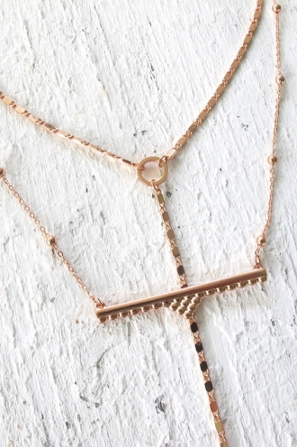 Minc collections - Wanderer bar necklace - Rose Gold