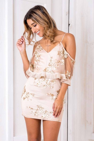 Monumental Dress - Blush Sequin