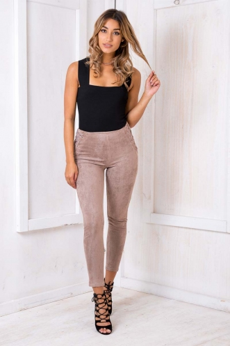 Attraction Suede Pants - Brown