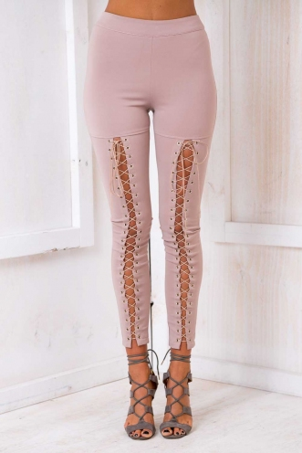 Biker Chick Pants - Beige