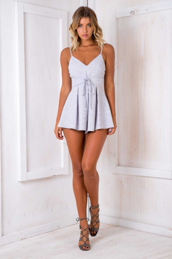 Dolly Playsuit - Grey