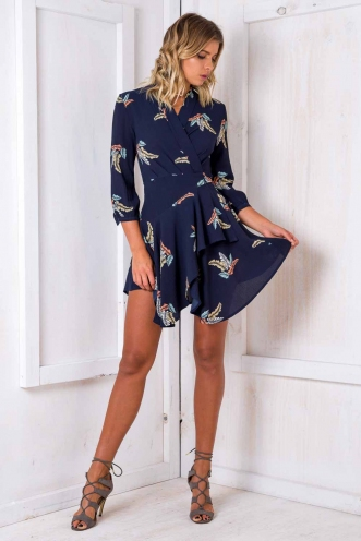Tay Tay dress - Midnight Blue Floral
