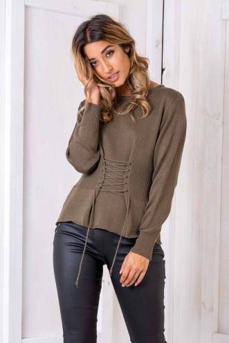 Evil Twins Jumper - Khaki