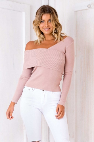 Monkey Business Jumper - Blush-SALE
