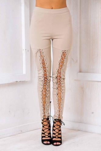 Biker Chick Pants - Nude