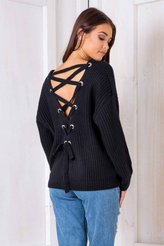 Build Me Up Jumper - Black
