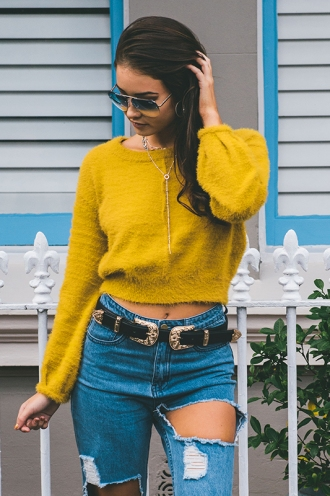 Magic Touch Top - Mustard